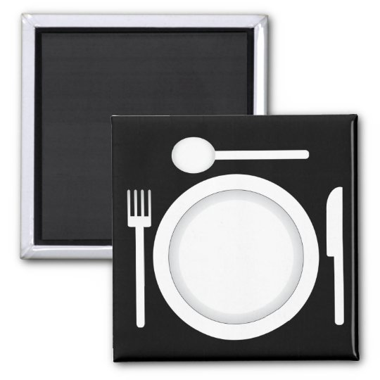 Plate Knife Fork And Spoon Magnet Zazzle Com