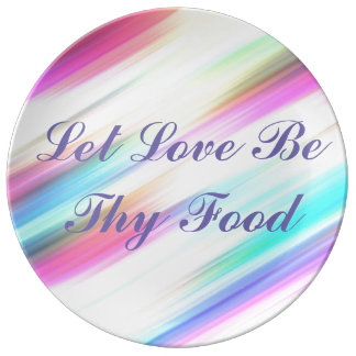 """Plate """"Leaves that the Love is Its Food """""""