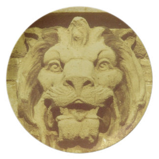 Plate - Lion Head Detail