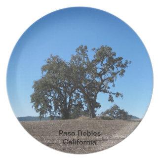 Plate: Majestic Oaks in Paso Robles, California Melamine Plate