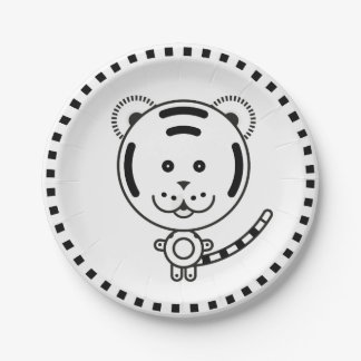 Plate Minimal Tiger BN