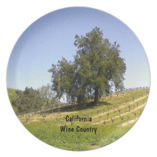 Plate: Oak in California Vineyard Melamine Plate