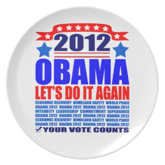 Plate: Obama 2012 - Let's Do It Again Plate