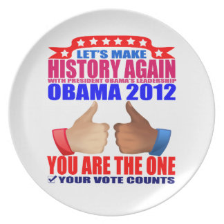Plate: Obama 2012 - Let's Make History Again Plate