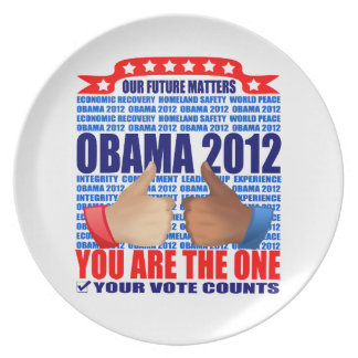 Plate: Obama 2012 - Our Future Matters Party Plate
