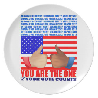Plate: Obama 2012 - Thumbs Up - Wall -You
