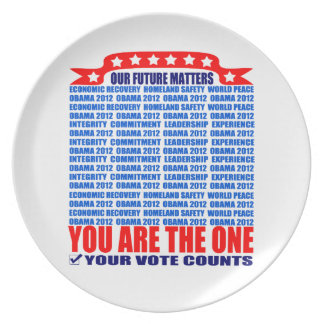 Plate: Obama 2012 - Wall / Our Future Matters Melamine Plate