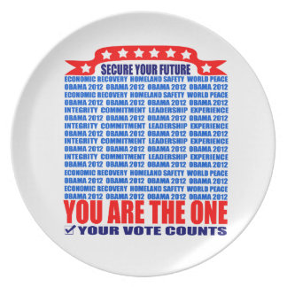 Plate: Obama 2012 - Wall / Secure Your Future