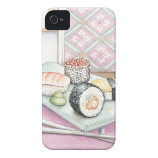Plate of Assorted Sushi with Chopsticks Case-Mate iPhone 4 Case