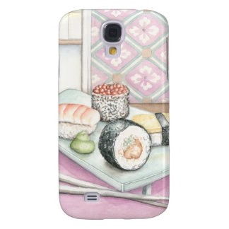Plate of Assorted Sushi with Chopsticks Samsung Galaxy S4 Cover