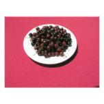 Plate of cherries photo print