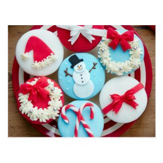 Plate of Christmas Cupcakes Postcard