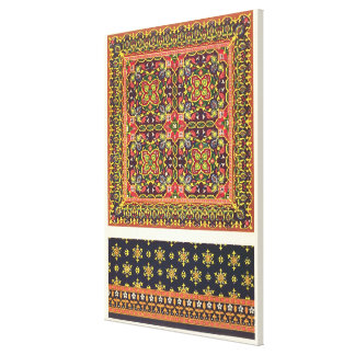Plate of design for carpets, from 'Industrial Arts Canvas Print