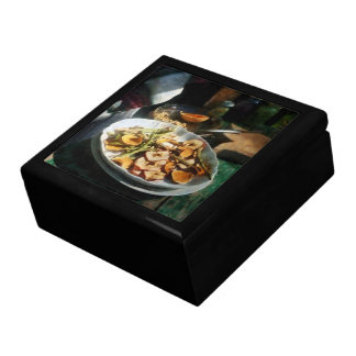 Plate of Dried Fruits and Vegetables Keepsake Box