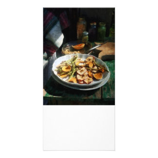 Plate of Dried Fruits and Vegetables Custom Photo Card