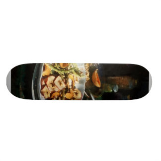 Plate of Dried Fruits and Vegetables Skateboard Deck