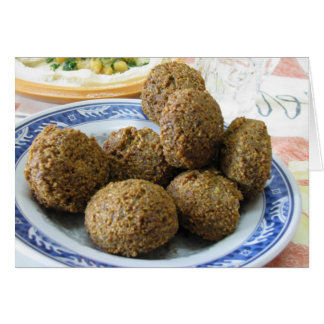 Plate of Falafel Greeting Card