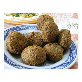 Plate of Falafel Postcard