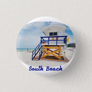 Plate of Miami South Beach Patrol Pinback Button
