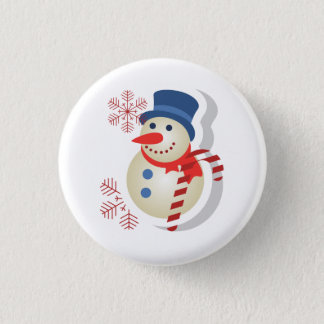 Plate of snowman button