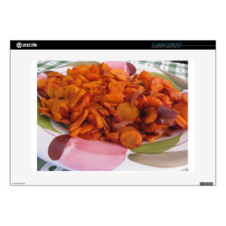 """Plate of stir-fried carrots 15"""" laptop decal"""