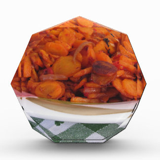 Plate of stir-fried carrots award