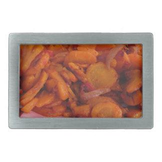 Plate of stir-fried carrots belt buckle