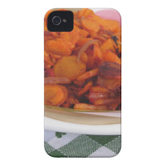 Plate of stir-fried carrots iPhone 4 cover