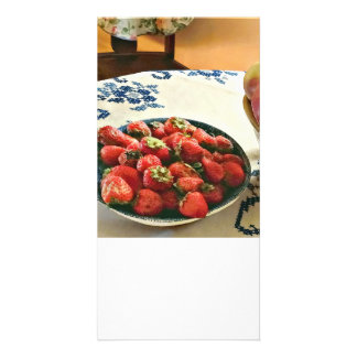 Plate Of Strawberries Card