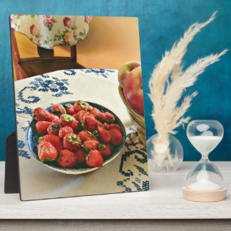 Plate Of Strawberries Plaque