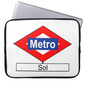 Plate of the tube station of Sun Laptop Sleeve