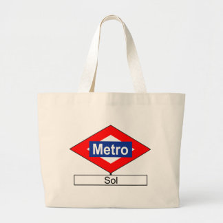 Plate of the tube station of Sun Large Tote Bag