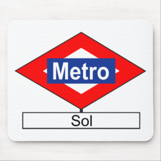 Plate of the tube station of Sun Mouse Pad