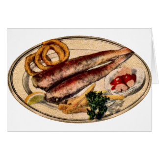 Plate of White Fish Card