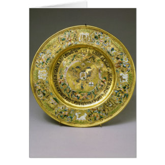 Plate owned by Tsar Alexei Mikhailovich Romanov Greeting Cards