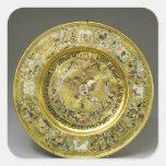 Plate owned by Tsar Alexei Mikhailovich Romanov Square Sticker