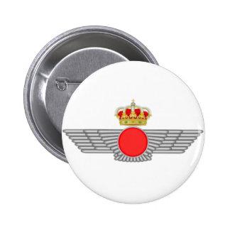 Plate pin. Emblem Spanish Air Force Pinback Button