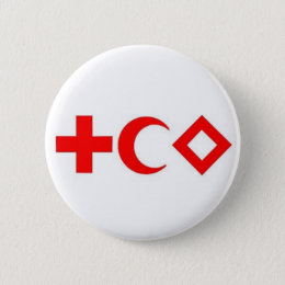Plate pin the Red Cross, Red Average Moon, Red