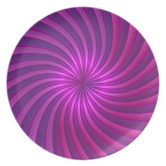 Plate pink spiral vortex