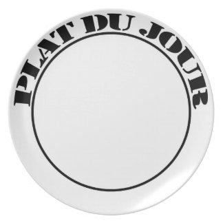 PLATE PLAT DU JOUR