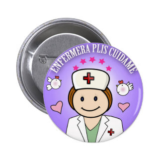 Plate Plis Nurse Takes care of to me in Blue 2 Inch Round Button