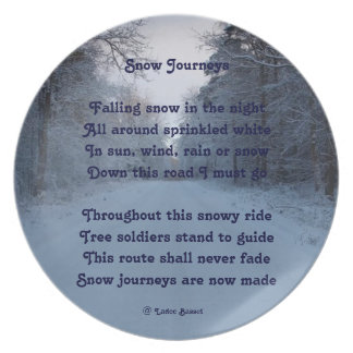 Plate Poem Snow Journeys By Ladee Basset