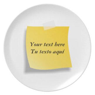Plate post-it