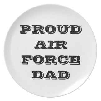 Plate Proud Air Force Dad