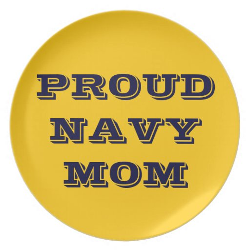 Plate Proud Navy Mom