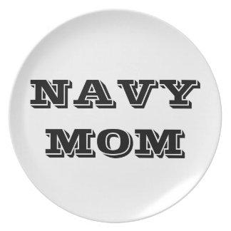 Plate Proud Navy Mom
