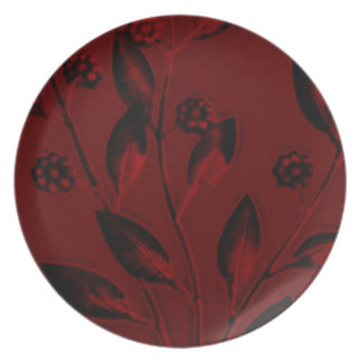 Plate~Red Breeze Design Plate