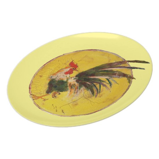 Plate - Rooster and sun
