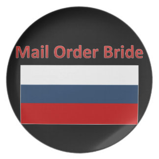 plate russian mail order bride funny gift