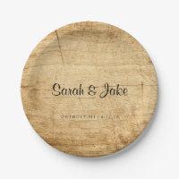 Plate - Rustic Wood